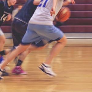 custom basketball uniforms kids running